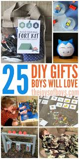 do you make gifts for your kids what can you add to this list of homemade gifts boys will love