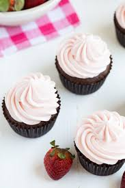 chocolate cupcakes with pink icing recipe. Wonderful Recipe Chocolate Cupcakes With Strawberry Marshmallow Frosting Are A Classic Recipe  That Everyone Will Love Made In With Pink Icing Recipe
