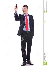 full body picture of a business man writing stock photo image royalty stock photo