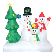 outdoor snowman decoration tall inflatable tree decor family decorations ornaments cute for new year \u2013 fourmies