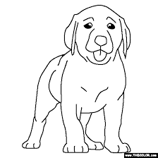 Small Picture Labrador Puppy Coloring Page