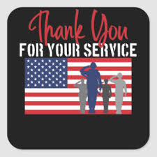 Thanks For Your Service Thank You For Your Service Patriotic Veteran Square Sticker