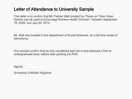Letter Of Attendance Certificate Of Participation Template Word