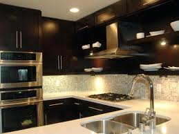 simple ideas kitchen with dark cabinets latest for backsplash light granite