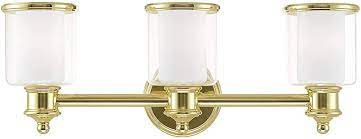 Livex Lighting 40213 02 3 Lt Polished Brass Bath Vanity Amazon Com