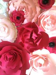 pink paper flower wall by paperflora paper flower backdrop wedding decor paper flower