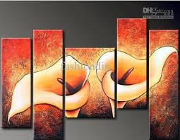 wall paintings for office. 2018 Abstract Wall Flower Oil Painting Canvas Modern Home Office Art Decor Decoration Gift Handmade From Fashiondig, $72.75 | Dhgate.Com Paintings For