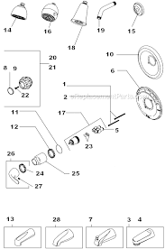 delta bathtub faucet parts t13120 list and diagram com 4 ege sushi