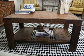 ... Coffee Table, Mesmerizing Brown Rectangle Wood DIY Rustic Coffee Table  With Storage Design Ideas To ...
