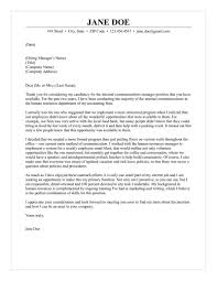 Communication Cover Letter Internal Communications Cover Letter