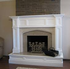 oxford wood fireplace mantel after makeover image to enlarge