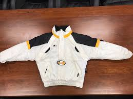 vintage pittsburgh steelers nfl pro line starter winter coat medium