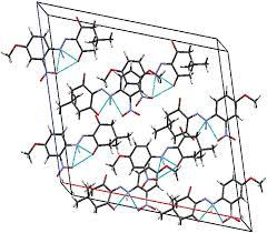 3 packing diagram of cd1 hydrogen bonding