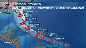 Tropical Storm Elsa is forecast to near ...