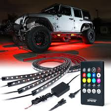 Under Car Light Kit Xprite Car Underglow Underbody System Neon Strip Lights Kit W Sound Active Function And Wireless Remote Control 5050 Smd Led Light Strips