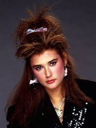 80s Hair Style demi moore with crimped hair c 1985 1980s pinterest demi 7138 by wearticles.com