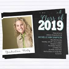 Senior Party Invitations Modern Chalk Board Graduation Party Invitations Instant Download