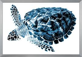 the well appointed house luxuries for the home the well appointed home set of two indigo sea turtle wall art