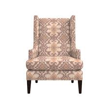 Leather Wingback Chair For Sale Luxe Wingback Ikat Chair Crate And Barrel