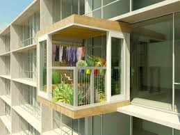 Amazing Apartment Balcony Cover With Fern