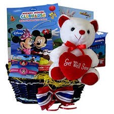 mickey mouse get well gift basket idea for boys and s