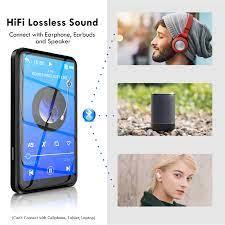 Satın almak online Dokunmatik ekran hifi mp3 çalar walkman bluetooth ve  kulaklık ile çoğaltıcı fm radyo dahili hoparlör müzik çalar ses