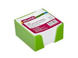 <b>Стикеры Attache</b> Fantasy <b>90x90x50mm</b> Light Green-White 354654 ...