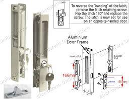 how to open a locked sliding door