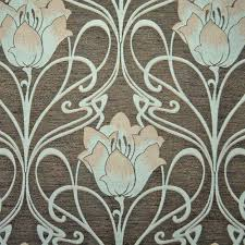 art deco art nouveau curtain and upholstery fabric art nouveau teal french lily from loome on art nouveau art deco wallpaper designs with art deco art nouveau curtain and upholstery fabric art nouveau teal