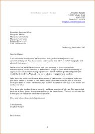 Simple Sample Application Letter Doc Cover Letter Sample In