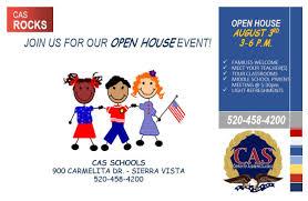 Open House Flyer Center For Academic Success K 12