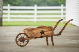 leigh country char log pine wheelbarrow planter