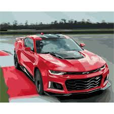 deyi 40 50cm luxury car painting by numbers diy sports car coloring by numbers on canvas wall pictures for living room bedroom in painting calligraphy