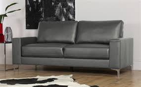 baltimore grey leather sofa 3 seater grey leather sofa o63