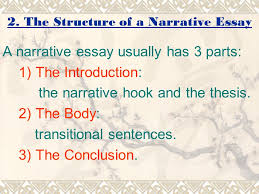 lecture narration ppt video online  the structure of a narrative essay