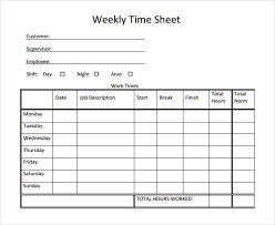 Weekly Time Sheet Template Microsoft Word Perfect Weekly Timesheet