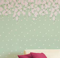 wall designs with paintWonderful Creative Wall Designs With Paint Cherry Blossoms Tree