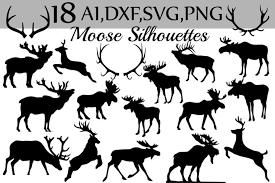 ⚡ we've got logos, silhouettes, icons, backgrounds, patterns, mockups and more! Svg Moose Clipart 38314 Illustrations Design Bundles