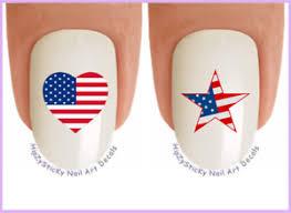 nail art j701 july 4th american flag