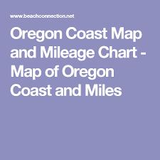 Oregon Coast Map And Mileage Chart Map Of Oregon Coast And