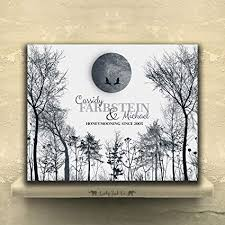 9 5 x 12 metal print personalized 10 year anniversary gift of tin aluminum honeymoon winter trees