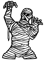 Small Picture Scary Mummy Coloring Page Coloring Sky