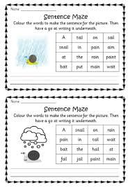 Jolly phonics phonics worksheets printables cards image print templates. Phonics Phase 3 Sentence Mazes Phonics Activities Phonics Lessons Phonics Worksheets