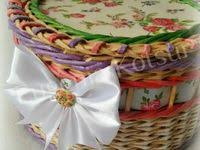 Мои работы): лучшие изображения (47)   Baskets, Crocheting и ...