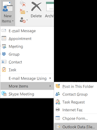 Create Outlook Create An Outlook Data File Pst To Save Your Information