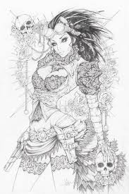 Lady Mechanika Pencils By Dawn Mcteigue