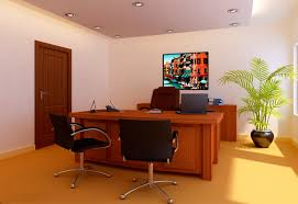 office rooms designs. Black Metal Led Television Brown Wood Stained Office Table Room Good Looking Ideas Rooms Designs I