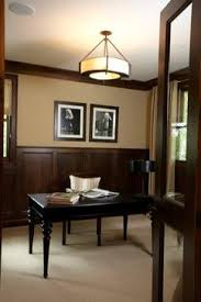 dark wood chair rail dark wood wainscoting design ideas pictures remodel and decor page 2