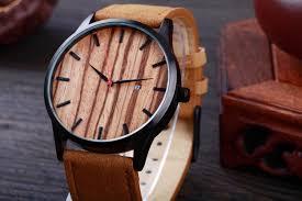 brand calendar quartz men wood face watch designer 2017 man women leather sport watches casual wooden wrisch