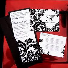 Black And White Wedding Invitation Kits Cheap